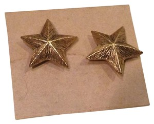 Other Vtg. Celestial Moon/ Sun/ Star Bronze Stud Earrings- NOS