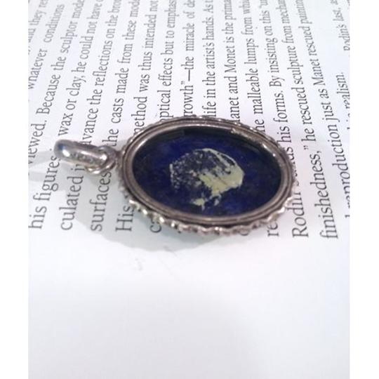 Other large Deep Blue Lapis Lazuli cabochon & Sterling Silver Pendant