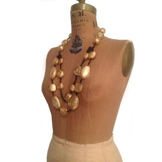 Other Golden Sparkler Necklace- Gold Layered Venetian Murano Bead Necklace