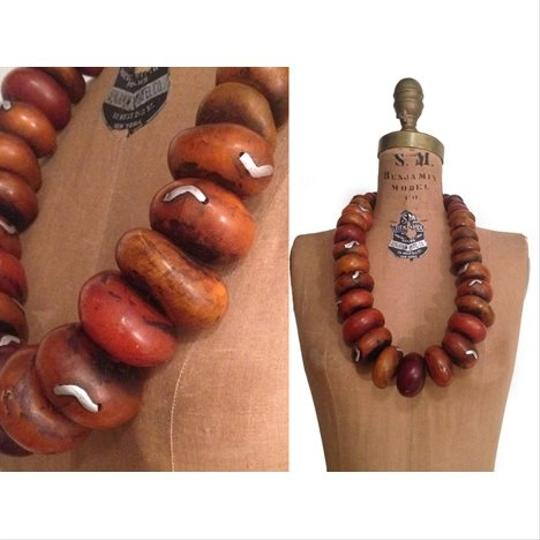 Other Antique Large Strand African Moroccan AMBER Trade Bead Statement Necklace