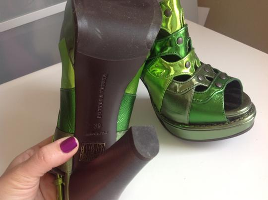 Bottega Veneta Worn Once Rare Multi green Platforms