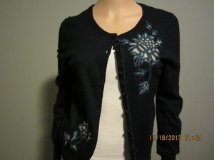 Lucky Brand Embroidered Preppy Casual Cardigan
