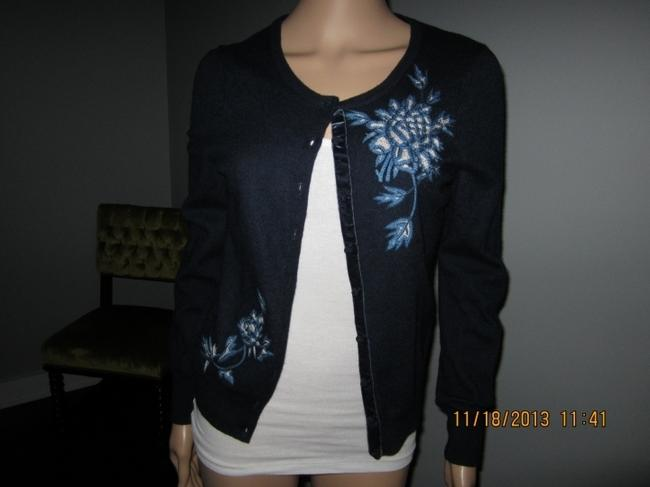 Lucky Brand Embroidered Preppy Casual Feminine Cardigan
