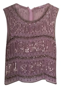 Calypso Lavender Sequined Top Light purple