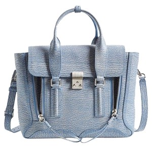 3.1 Phillip Lim Pashli Work Satchel in Periwinkle/Cream