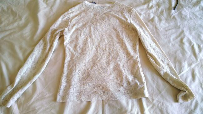 New York & Company Lace Top Beige