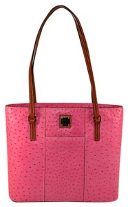 Dooney & Bourke Shopper Lexington Leather Tote in Hot Pink