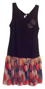 Gioia short dress Black, multi bottom on Tradesy