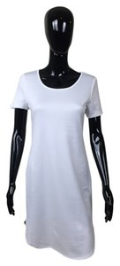 Other short dress White Zipper Short Sleeve on Tradesy