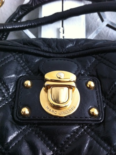 Marc Jacobs Mb Julieanne Quilted Chain Satchel in black
