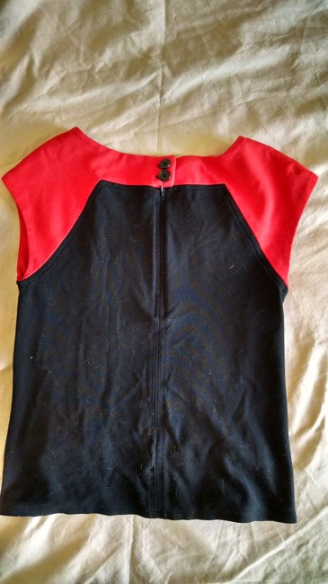 Ann Taylor Top Black and Red