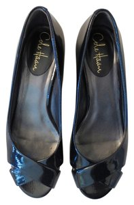 Cole Haan Nike Air Patent Leather Black Wedges