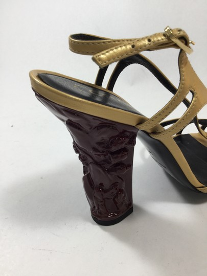 Chanel Gold Sandals
