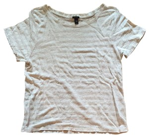 J.Crew T Shirt Beige And White Stripe