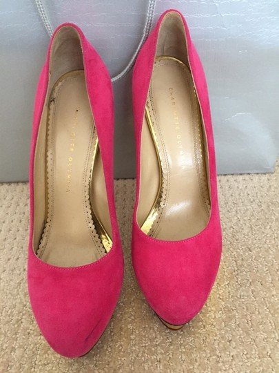 Charlotte Olympia Hot Pink Pumps