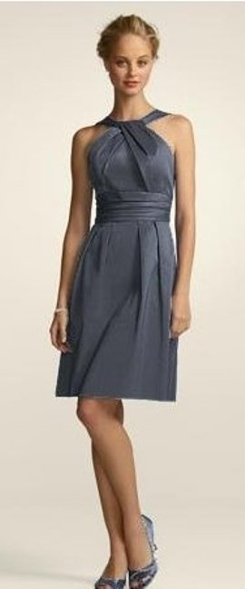 Item - Grey Cotton 83690 Bridesmaid/Mob Dress Size 22 (Plus 2x)