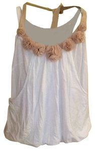 Deletta Top White and beige