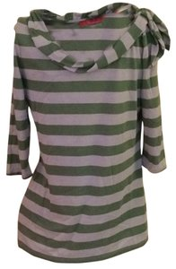 Anthropologie T Shirt Green/white