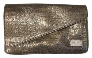 Nine West Crocodile Tan Taupe New Clutch