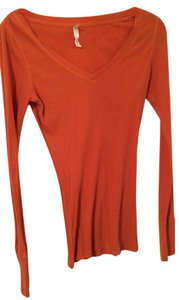 Lilu Longsleeve Hourglass Form Fitting Top Orange