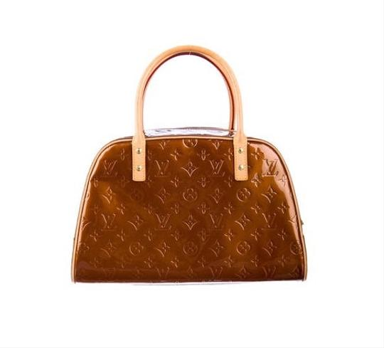 Louis Vuitton Vernis Tomkins Bowler Satchel in Bronze