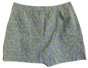 Liz Claiborne Skort Blue with Green Floral Print