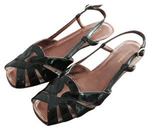 Banana Republic Low Wedge Black Sandals