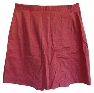 Charter Club Skort Pink with Palm Tree Print