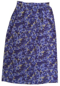 Sag Harbor Skirt Blue, Purple and Tan Floral
