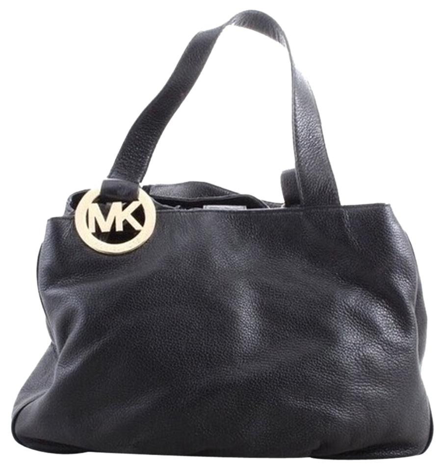 15ccda4e2a84 ... Fulton Large East West Leather Crossbody Bag in Black Michael Kors Tote  in Black .