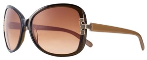 Tory Burch Tory Burch Women,s Brown Gradient Oval Sunglasses
