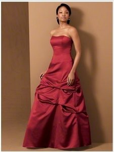 Alfred Angelo Red Satin 6495mm Formal Bridesmaid/Mob Dress Size 12 (L)