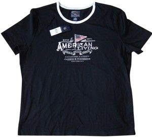 American Living Cotton Casual T Shirt Black