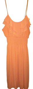 Body Central short dress peach/mango on Tradesy