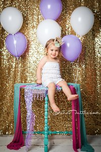 Photobooth Gold Sequin Backdrop