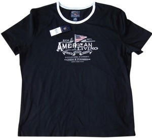 American Living Casual Cotton T Shirt Black