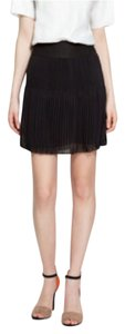 Zara Chiffon Pleated Mini Skirt Black