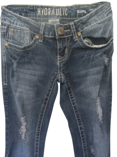 Hydraulic Boot Cut Jeans-Distressed