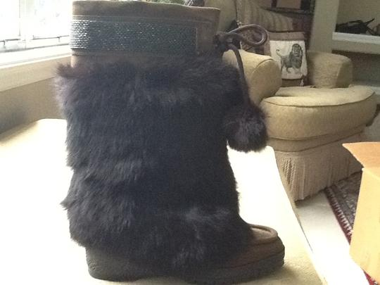 Coach Brown Suede Boots