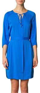 Diane von Furstenberg short dress Electric blue on Tradesy