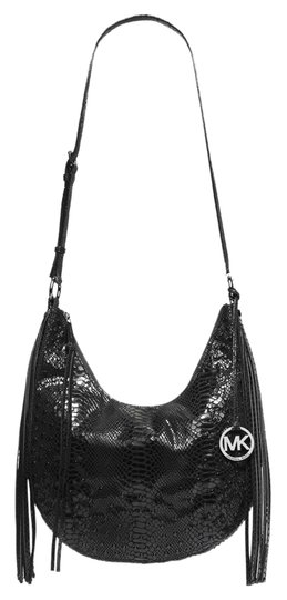 Preload https://img-static.tradesy.com/item/4155517/michael-kors-rhea-black-embossed-patent-python-leather-shoulder-bag-0-0-540-540.jpg