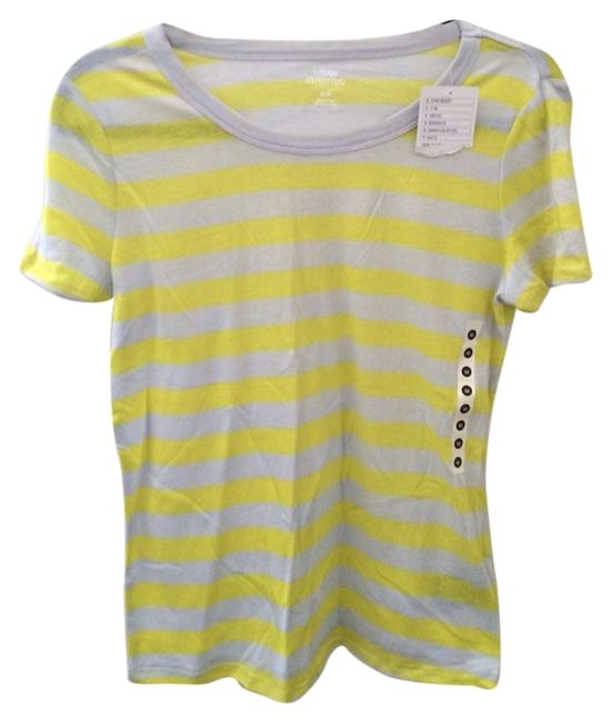 Preload https://item1.tradesy.com/images/urban-outfitters-goldgray-stripe-crew-neck-tee-shirt-size-8-m-4155580-0-0.jpg?width=400&height=650