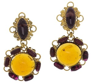 Chanel Chanel Vintage Gripoix Glass Earrings