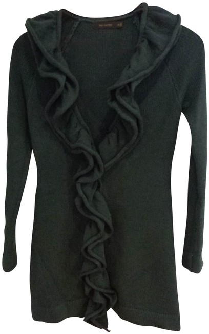 The Limited Pine Forest Ruffled Tunic Dress Cable Knit Sweater