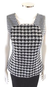 Dior Wool Silk Runway Top Houndstooth