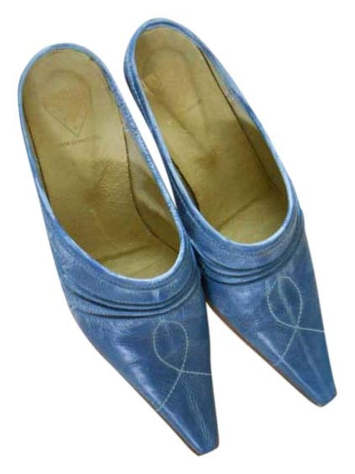 MISS John heat Fluevog Denim Blue Mules/Slides Strong heat John and heat resistance 9e971f