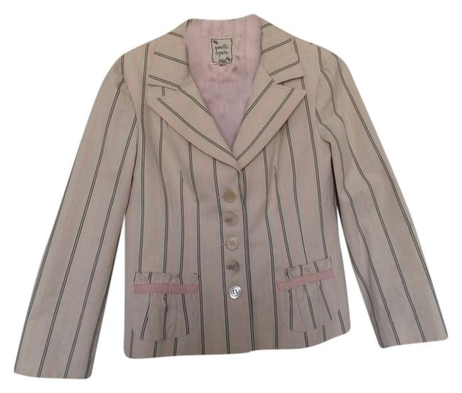 Preload https://item2.tradesy.com/images/nanette-lepore-cream-peach-brown-cotton-jacket-pant-suit-size-8-m-4156036-0-0.jpg?width=400&height=650