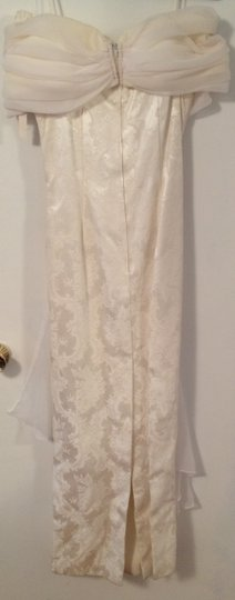 Jessica McClintock White Off Shoulder Gown Vintage Wedding Dress Size 12 (L)