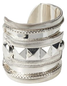 Erickson Beamon NEW Unique Designer Silver Cuff Bracelet