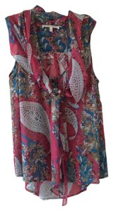 Collective Concepts Top Pink paisley